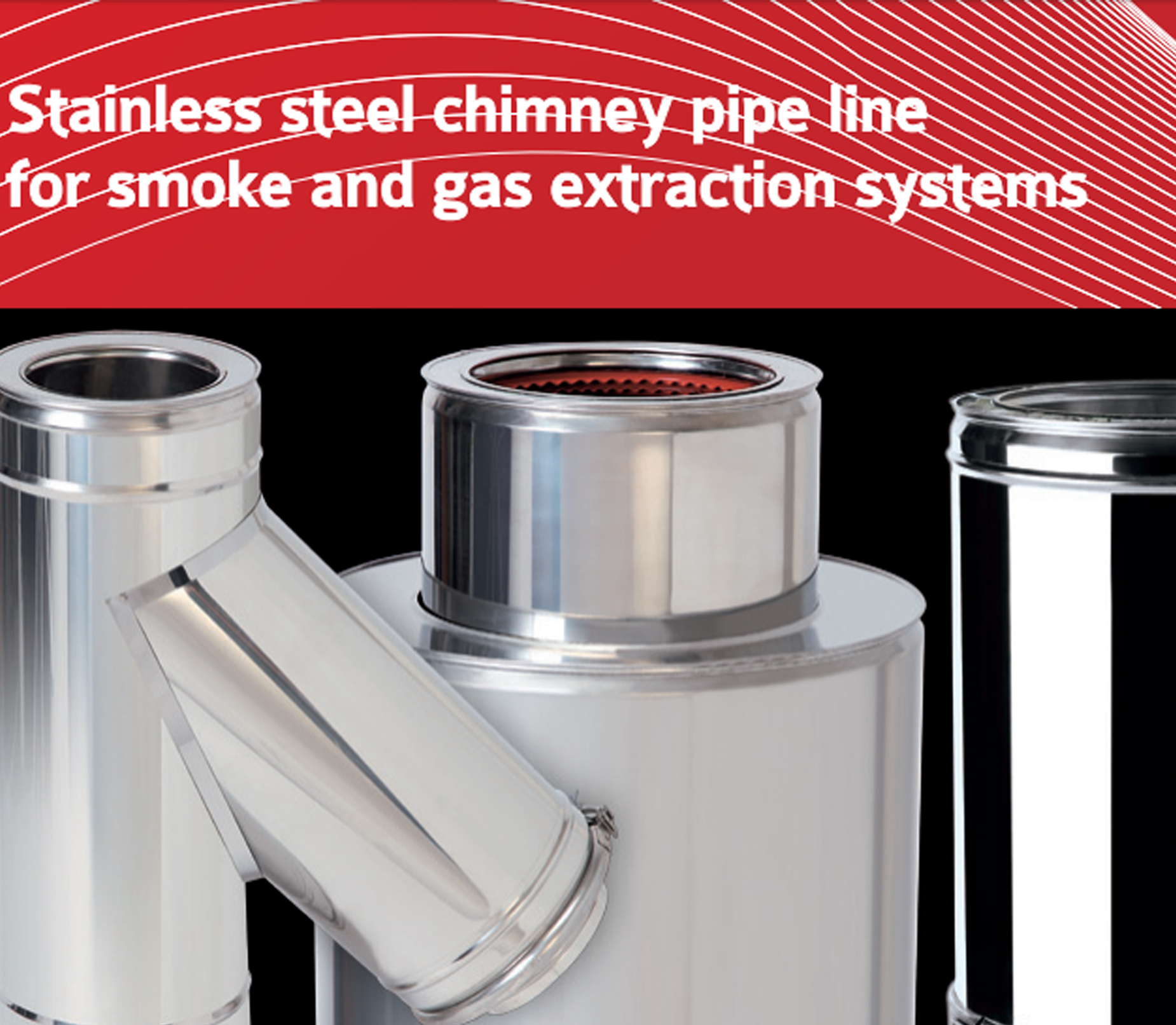 Single and isolated chimney pipe new one